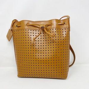 Kelsi Dagger Wythe Perforated Leather Bucket Bag